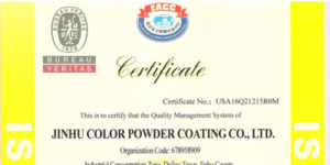 Powder Coating paint color certification